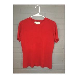 Norton McNaughton red short sleeve sweater